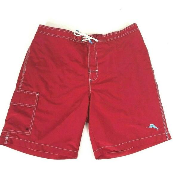 c3d4d59f6ed81 Tommy Bahama Swim | Baja Beach Board Shorts Red Trunks Xl | Poshmark